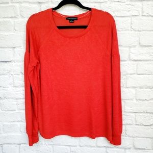 Sanctuary Cozy Drop Sleeve Red Sweater